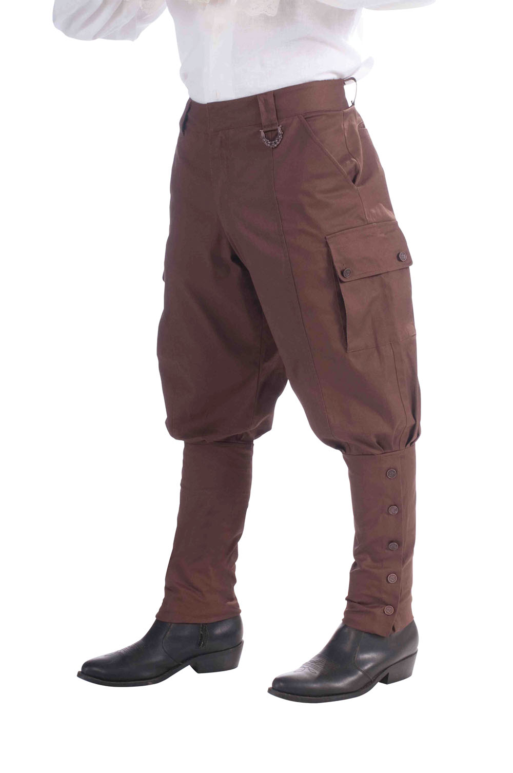 Mens Brown Steampunk Trousers Science Fiction Fancy Dress Costume Punk Outfit
