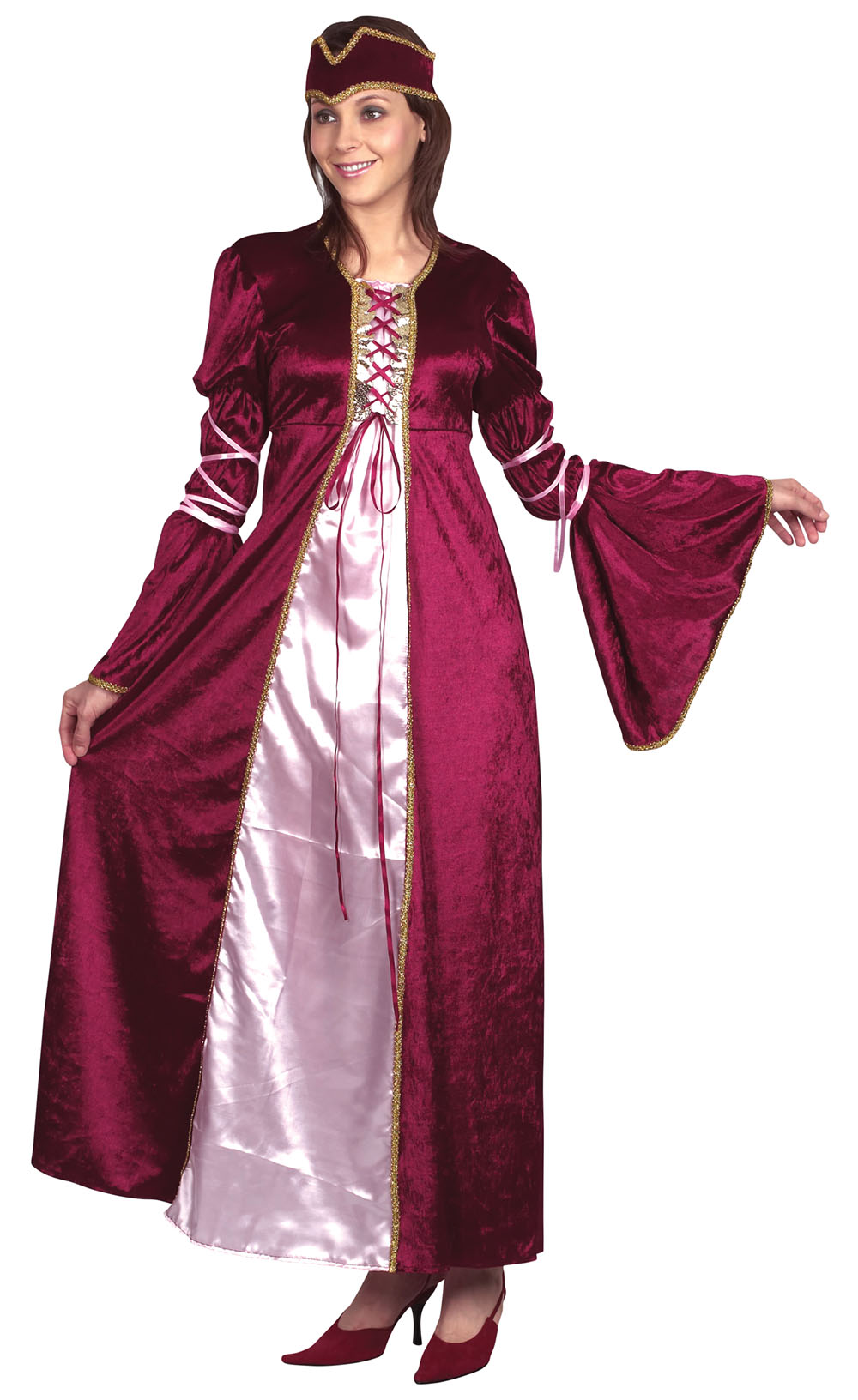 Ladies Renaissance Princess Fancy Dress Costume Lady Medieval Dame UK 10-14