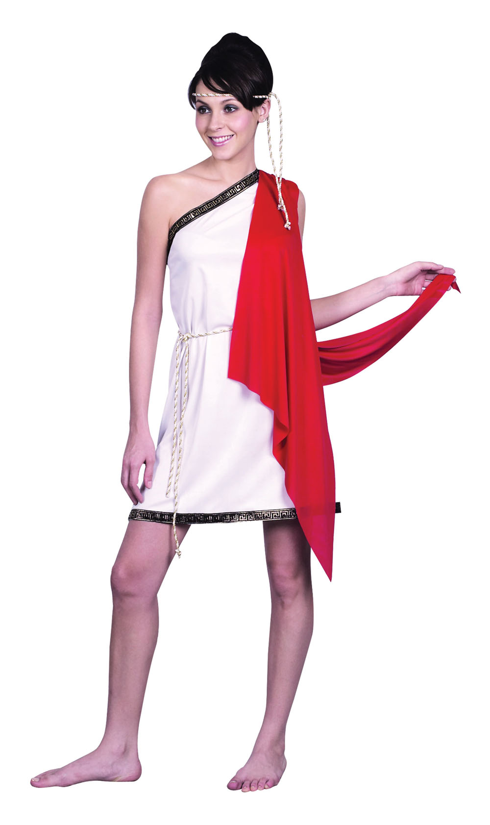 Ladies White Toga Grecian Goddess Fancy Dress Party Costume Womens UK 10-14