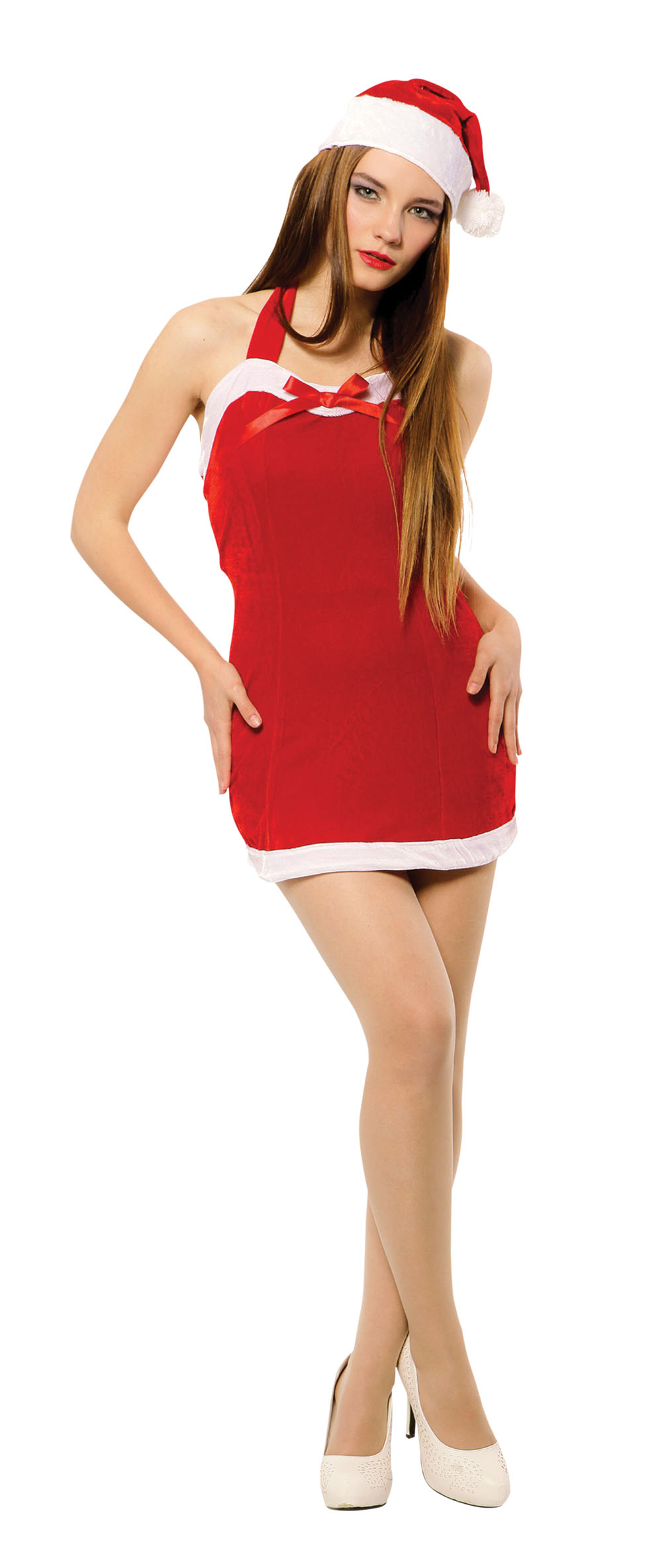 Ladies Sexy Sweetie Miss Santa Fancy Dress Costume Womens Outfit UK 10-14