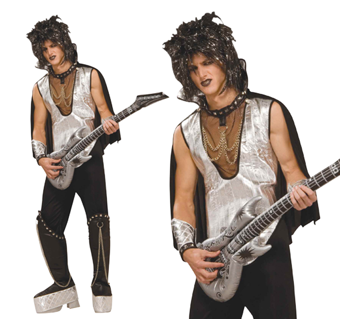 Mens Glam Rock 1970s Fancy Dress Costume David Bowie Style Outfit New