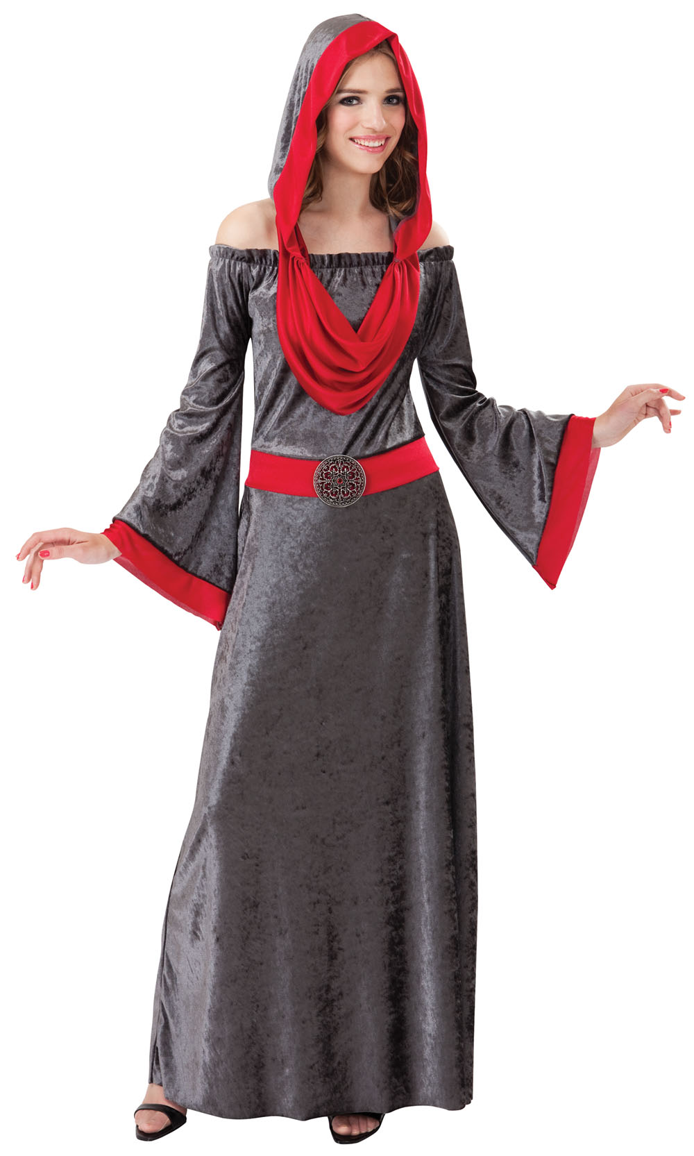 Ladies Death Grim Reaper Halloween Fancy Dress Costume Womens Outfit UK 10-14