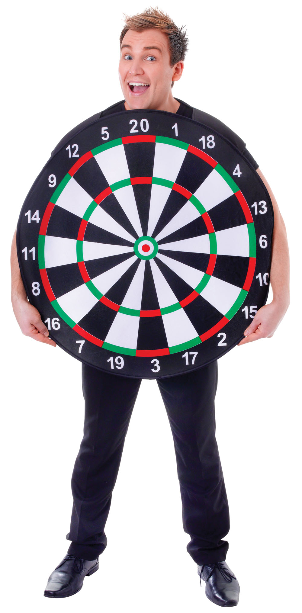 Unisex Dartboard Game Fancy Dress Costume Pub Dart Board Competition Outfit