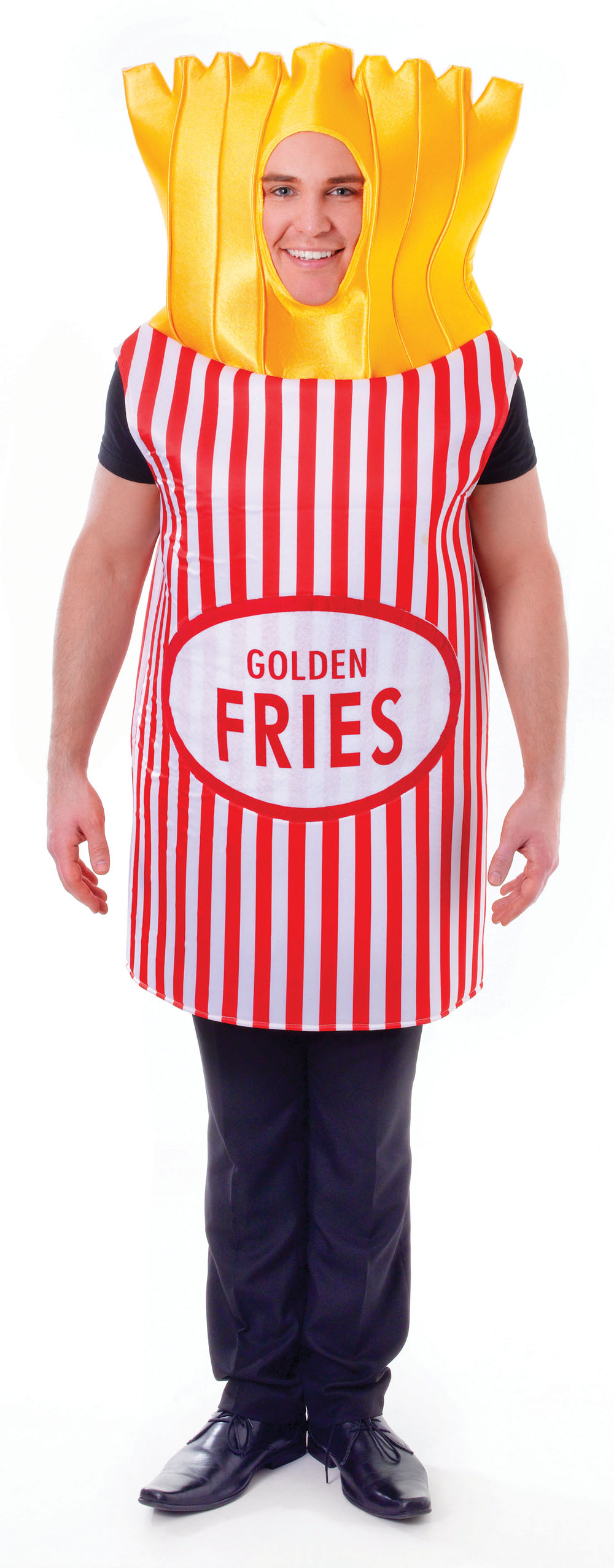 Unisex French Fries Takeaway Chips Fancy Dress Costume Fast Food Party Outfit