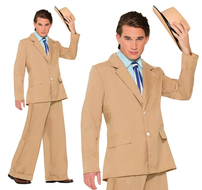 Mens Gold Coast Gentleman 1920s Suit Fancy Dress Costume Nucky Thompson Outfit