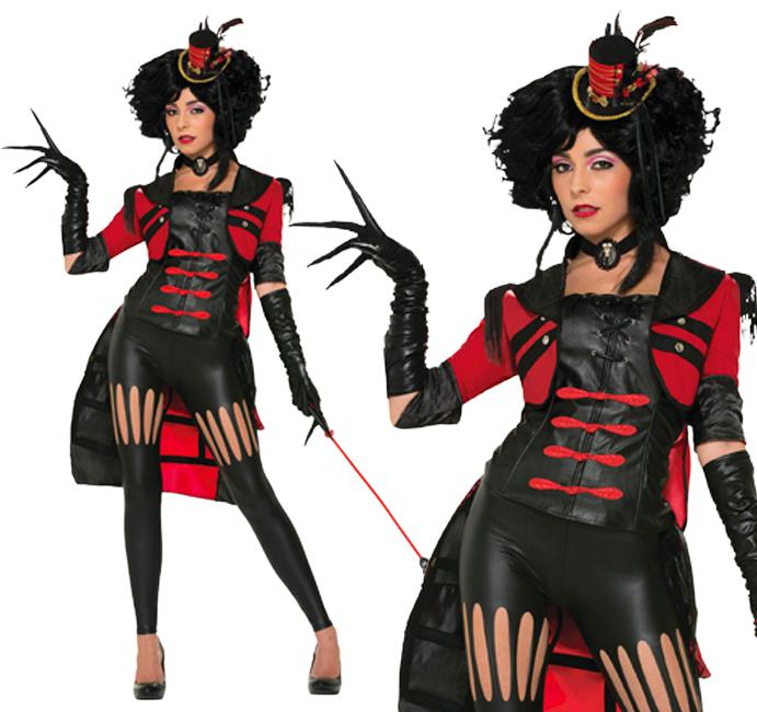 Ladies Lion Tamer Fancy Dress Costume Halloween Ringmaster Circus UK 10-14