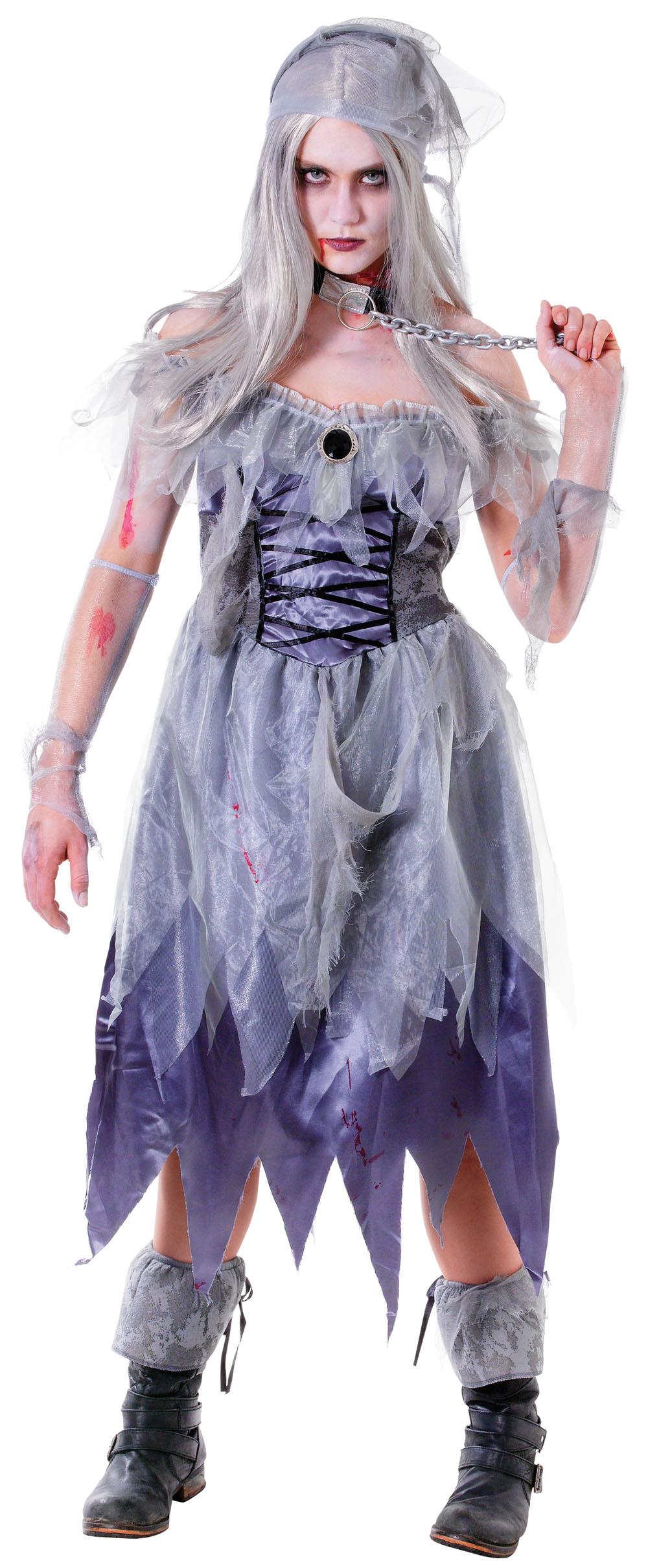 Ladies Pirate Scary Fancy Dress Costume Halloween Zombie Party Outfit UK 10-14