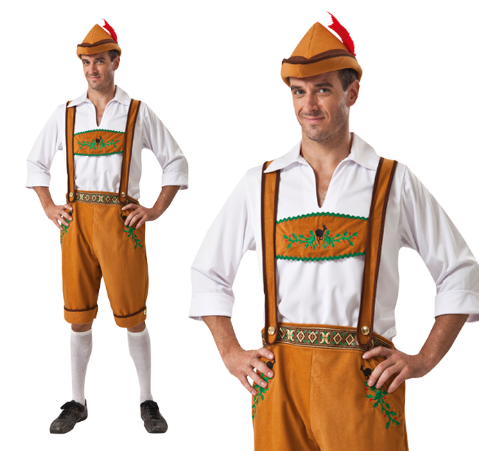Mens German Lederhosen Fancy Dress Costume Stag Do Oktoberfest Outfit New