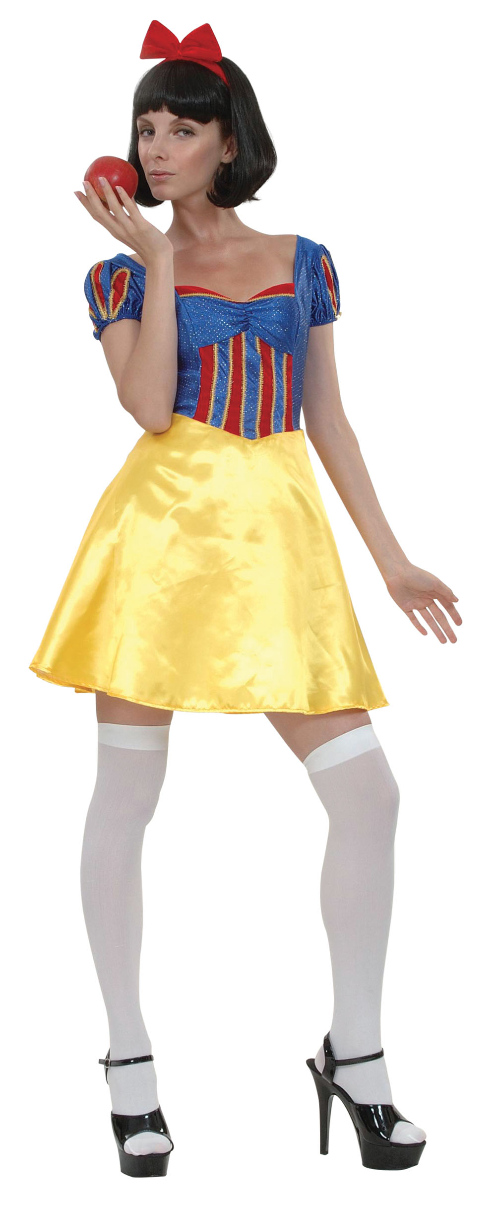 Ladies Snow White Fancy Dress Costume Sexy Womens Outfit UK 10-14