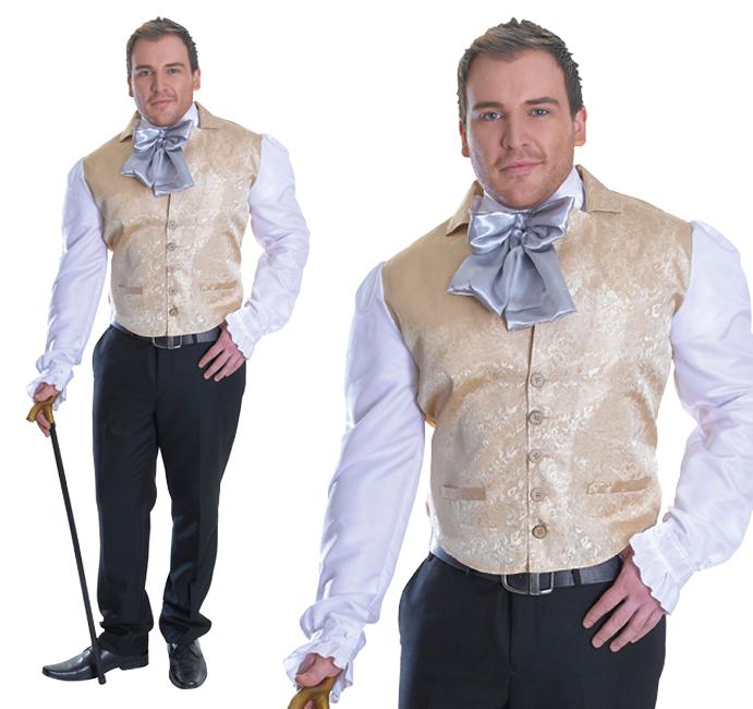 Mens Regency Top Fancy Dress Costume Tudor Gentleman Outfit New