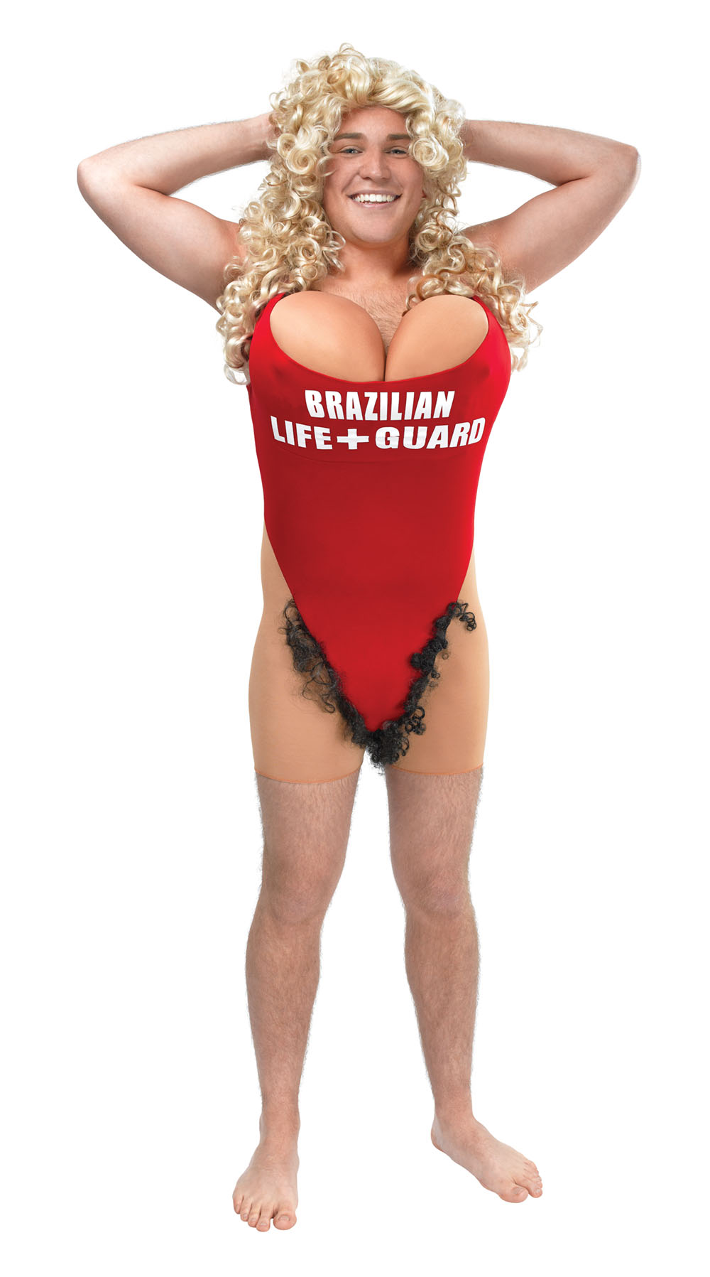Mens Life Guard Lifeguard Red Swim Costume Stag Do Fancy Dress Outfit Adult New
