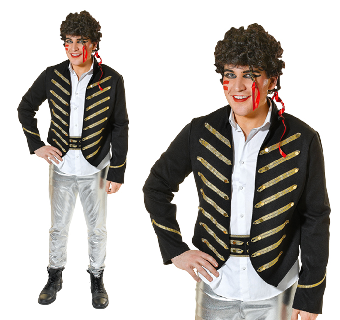 Mens Adam Ant Fancy Dress Costume New Romantic 80S Outfit New