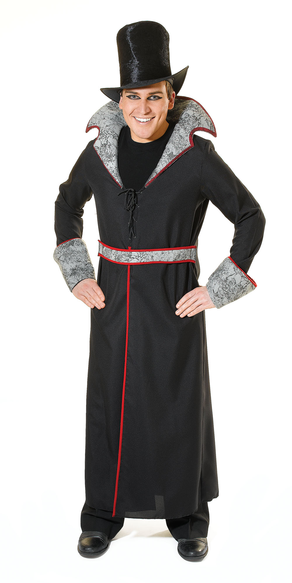 Mens Black Vampire Slayer Fancy Dress Costume Halloween Theme Party Outfit New