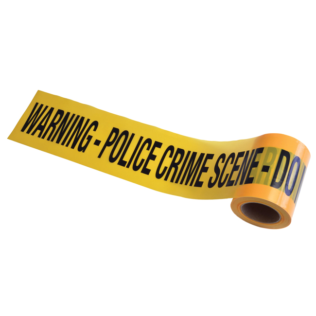 30m Long Yellow Police Crime Scene Tape Halloween Party Decoration Prop