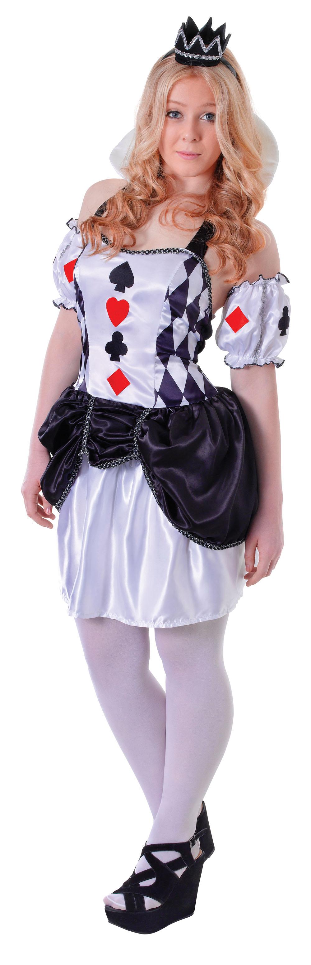 Queen Of Hearts Girls Teen Ladies UK 8 Fancy Dress Costume Outfit Alice