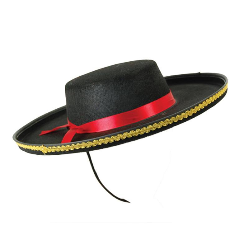Adult Spanish Hat Bandit Bull Fighter Fancy Dress Costume Prop Spain ... d2705660cd4