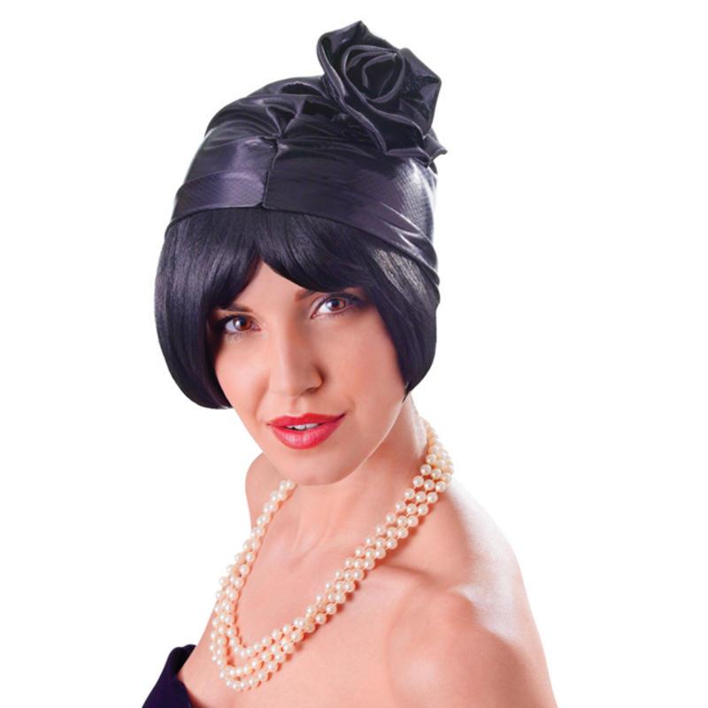 Ladies Black Cloche Hat 1920S 1930S Flapper Great Gatsby Fancy Dress ... cd6d98c622d