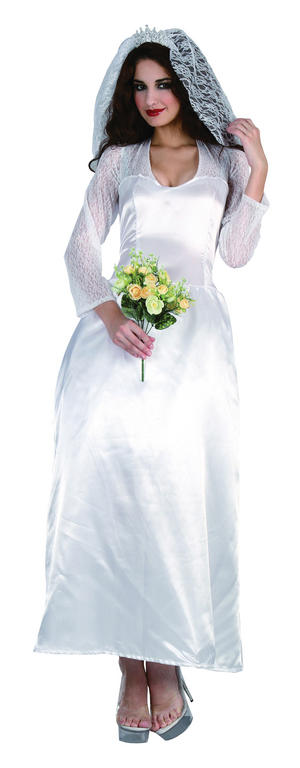 Ladies Kate Wedding Fancy Dress Costume Bride Hen Outfit UK 10-14