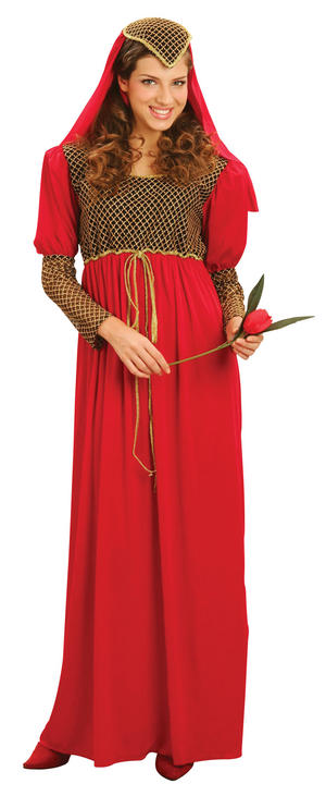 Ladies Historic Juliette Fancy Dress Costume Shakespeare Tudor Outfit UK 10-14