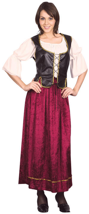 Ladies Wench Fancy Dress Costume Saloon Pub Girl Womens Outfit UK 18-22