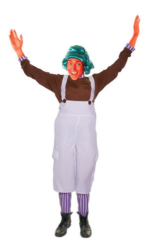Unisex Oompa Loompa Charlie & The Chocolate Factory Fancy Dress Costume