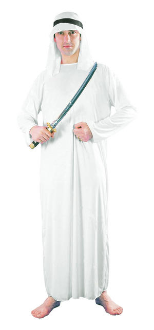 Mens White Arab Sark Fancy Dress Costume Saudi Arabia Dubai Party Outfit New