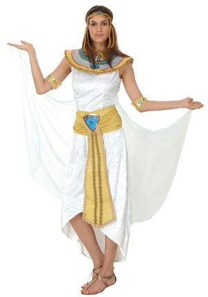 Ladies Queen of the Nile Egyptian Fancy Dress Costume Cleopatra Outfit UK 10-14
