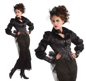 Ladies Vintage Steampunk Fancy Dress Costume Victorian Lady Outfit UK 10-14