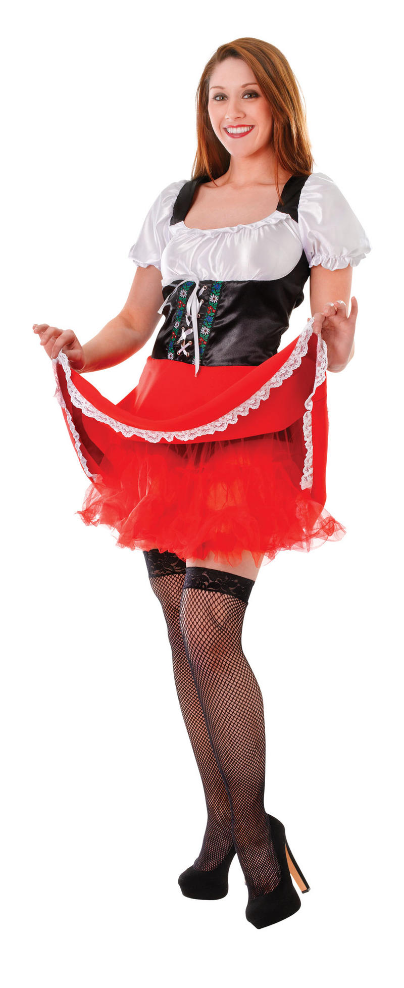 Ladies Red Underskirt for Fancy Dress Costume Gives Volume Womens UK 10-14