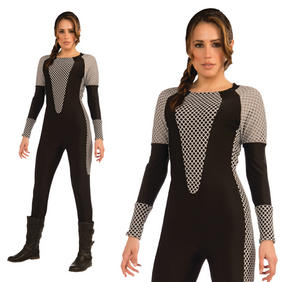 Ladies Katniss Fancy Dress Costume Warrior Lara Croft Outfit UK 10-14