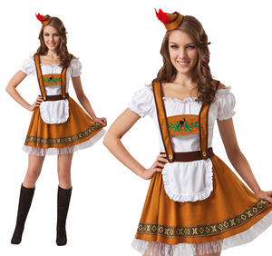 Ladies German Lederhose Fancy Dress Costume Bar Maid Oktoberfest Hen Do UK 10-14