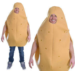 Adult Potato Mens Ladies Fancy Dress Food Stag Do Womens Costume Outfit New