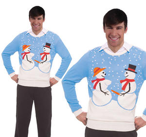 Adult Mens Naughty Snow Couple Christmas Jumper Novelty Snowman Top Secret Santa
