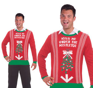 Adult Mens Naughty Mistletoe Christmas Jumper Novelty Sweater