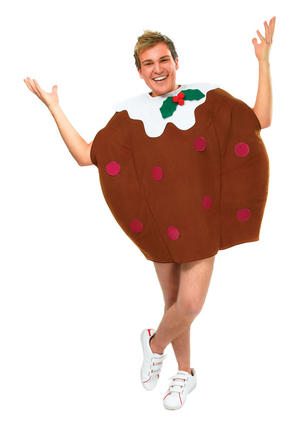 Unisex Christmas Pudding Cake Fancy Dress Costume Xmas Party Pud Outfit New