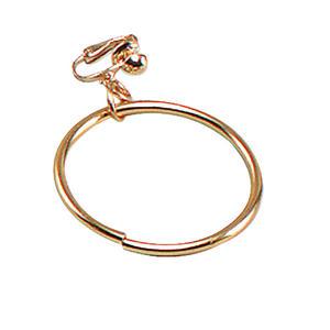 Gold Pirate Earring Halloween Pirates Jewellery Fancy Dress Accessory