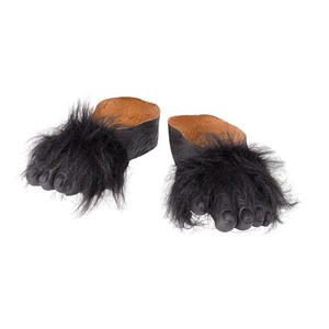 Black Furry Gorilla Feet Ape Monkey King Kong Fancy Dress Costume Prop