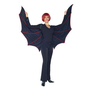 Adult Black Velvet Bat Wings Halloween Fancy Dress Costume Accessory