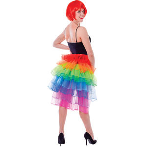 Ladies Rainbow Tutu Bustle Skirt Fancy Dress Costume Accessory One Size