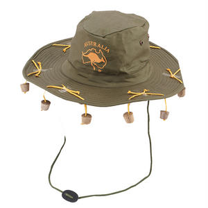 Adult Australian Cork Hat Cap Novelty Fancy Dress Costume Prop Oz