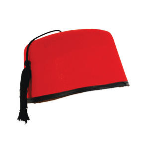 Adult Red Fez Hat Tommy Cooper Stag Do Hen Party Fancy Dress Costume Prop