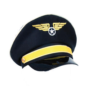 Adult Pilot Hat Fancy Dress Costume Accessory For Wwii Biggles Raf Mens