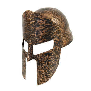 Adult Gold Spartan Helmet Warrior Fancy Dress Costume Prop