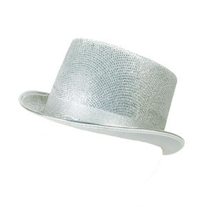 bf19a864d63e0 Sentinel Adult Silver Glitter Lurex Top Hat Tap Dancing Fancy Dress Costume  Prop