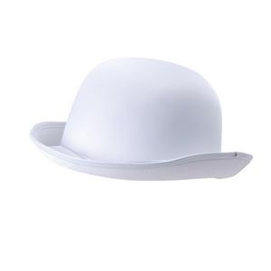 Adult White 20S Felt Bowler Hat Dancer Fancy Dress Costume Accessory