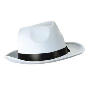 Adult White Gangster Hat 20S Gangster Michael Jackson Fedora Fancy Dress Prop