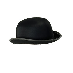 Adult Bowler Hat Black Satin Finish Victorian Edwardian 30S Fancy Dress Costume