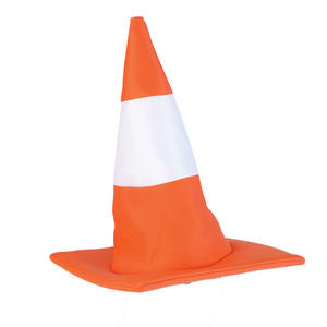 Adult Traffic Cone Hat Orange Road Stag Night Fancy Dress Costume Funny Unisex