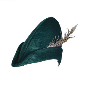 Adult Robin Hood Hat Soft Felt Hat Accessory For Medieval Middle Ages Fancy Dress Prop