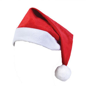 Adult Father Christmas Santa Claus Furry Velour Hat Fancy Dress Costume Party